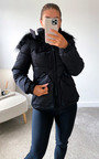 Aurora Padded Jacket with Faux Fur Hood Thumbnail