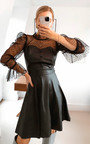 Avery Sheer Faux Leather Dress Thumbnail