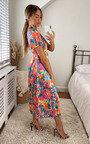 Avery Wrap Printed Midi Dress Thumbnail