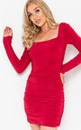 Avril Ruched Bodycon Dress Thumbnail