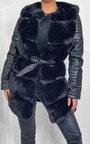 Bailey Faux Leather & Faux Fur Jacket Thumbnail