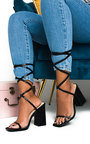 Ballie Tie Up High Heels  Thumbnail