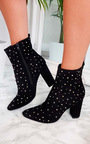 Bambi Studded Heeled Ankle Boots Thumbnail