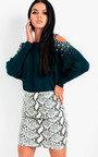 Barney Cold Shoulder Embellished Knit Jumper Thumbnail