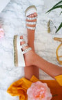 Beatrice Braided Studded Wedged Sandals Thumbnail