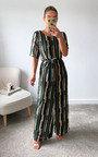 Beatrix Wide Leg Tie Waist Printed Jumpsuit Thumbnail