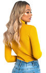 Bec Roll Neck Knitted Ribbed Jumper Thumbnail