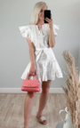 Becca Embroidered Frill Dress Thumbnail