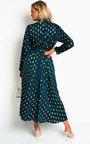 Becki Polka Dot Belted Maxi Dress Thumbnail