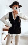 Becky V Neck Knitted Vest  Thumbnail