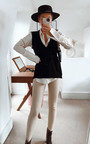 Becky V Neck Knitted Vest  Thumbnail