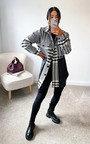 Bekki Panelled Dogstooth Shirt Jacket Thumbnail
