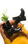 Bell Faux Fur Buckle Boots Thumbnail