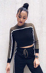 Bella Stripe Cropped Tracksuit Thumbnail