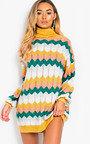 Berni Polo Neck Knitted Jumper Dress Thumbnail