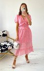 Bessie Floral Midi Dress Thumbnail