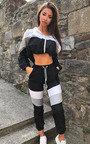 Beth Slim Fit Stripe Panel Tracksuit Thumbnail