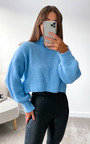 Betsy High Neck Knitted Cropped Jumper Thumbnail