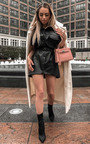 Bex Faux Leather Mini Dress Thumbnail
