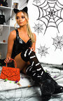 Bey Bat Print Long Socks Thumbnail