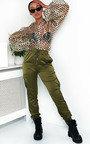 Billie Cuffed Satin Cargo Trousers Thumbnail
