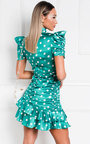 Billie Polka Dot Frill Mini Dress Thumbnail