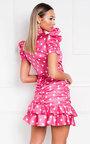 Billie Polka Dot Frill Mini Dress Thumbnail