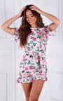 Bindi Ruffle Hem Floral Mini Dress Thumbnail