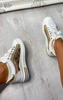 Blair Printed Lace Up Trainers Thumbnail