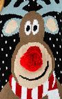 Cupid Pom Pom Reindeer Christmas Jumper Thumbnail