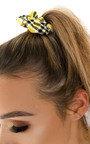 Bonnie Tartan Fabric Hair Scrunchie Thumbnail