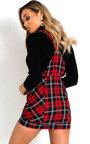 Bonnie Tartan Pinafore Mini Dress Thumbnail