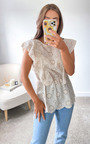 Bowie Crochet Frill Top Thumbnail