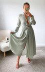 Brandi Button Up Tie Waist Maxi Shirt Dress Thumbnail