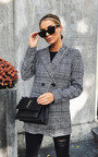 Brandy Checked Slim Fit Longline Blazer Thumbnail
