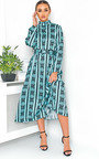 Breana Belted Print Maxi Dress Thumbnail