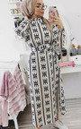 Breana Belted Print Maxi Dress Thumbnail