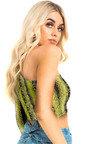 Bree One Shoulder Snake Crop Top Thumbnail