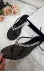 Brina Diamante Flip Flop Sandals Thumbnail