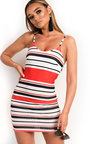 Brogan Stripe Bodycon Dress Thumbnail
