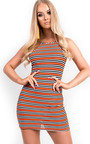 Brooke Stripe Bodycon Dress Thumbnail