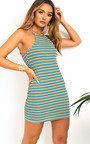 Brooke Stripe Bodycon Dress Thumbnail