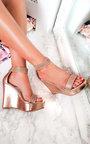 Brooklyn Diamante Peep Toe Wedges  Thumbnail