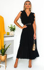 Bryanna Pleated Maxi Dress Thumbnail