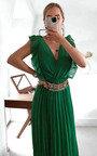 Bryanna Pleated Maxi Dress Thumbnail