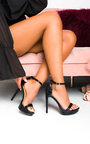 Caggie Barely There Snake Print High Heels  Thumbnail