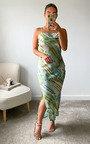 Cairo Scoop Neck Midi Printed Dress Thumbnail