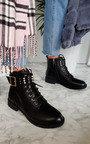Cait Embellished Biker Boots Thumbnail