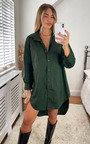 Caitlin Drop Hem Oversized Shirt Dress Thumbnail