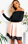 Caitlin Off Shoulder Skater Dress Thumbnail